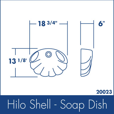 Ozarks Marble Hilo Shell - Soap Dish Specs